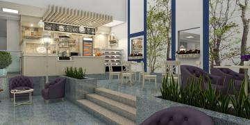 Дизайн кафе в холле
