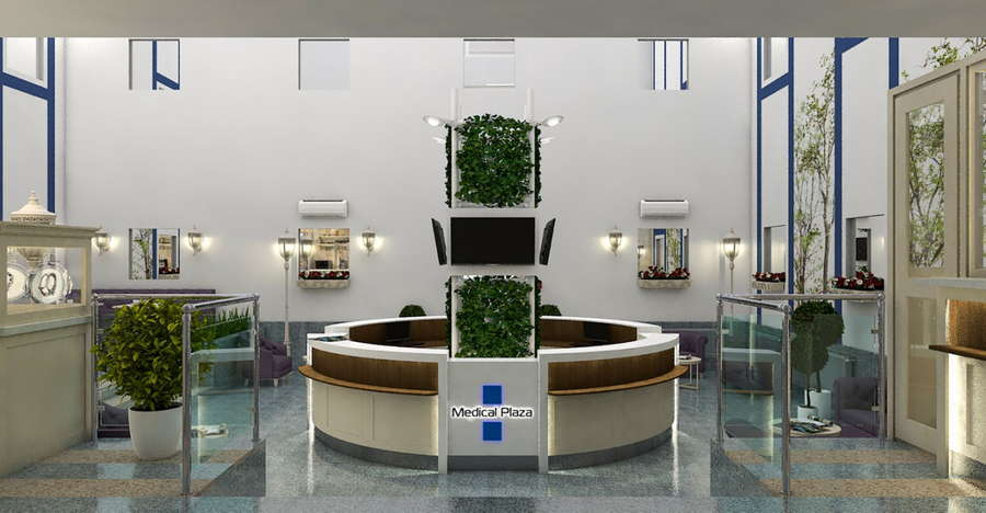 Холл клиники «MEDICAL PLAZA»