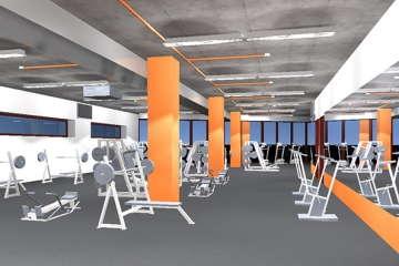 эскиз зала в фитнес центре