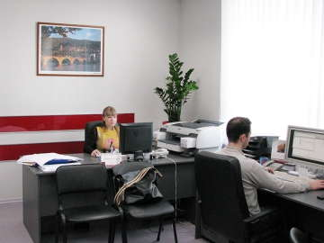 интерьер офиса типографии