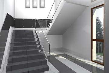 визуализация лестницы в торговом центре