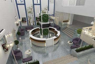 дизайн холла клиники