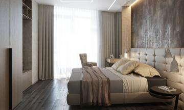 Дизайн спальни в ЖК Панорама