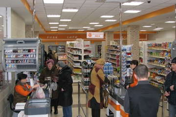 дизайн зала в продуктовом супермаркете