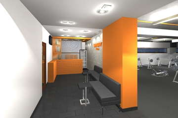 визуализация вестибюля фитнес центра