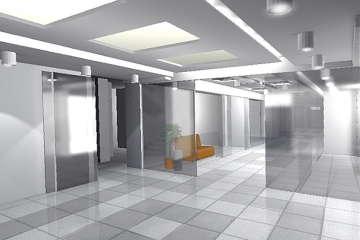 визуализация вестибюля торгового центра