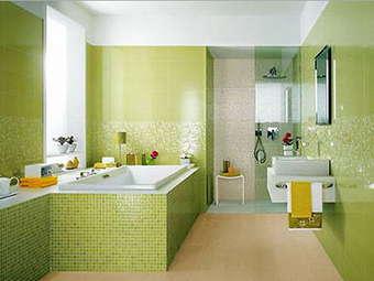 зеленый цвет в санузле