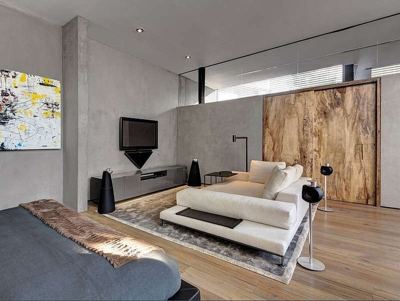 бетон интерьере