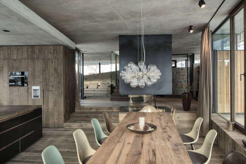 потолок под бетон, бетон  в и нтерьере