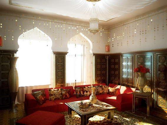 восточный стиль в интерьере, дизайн интерьера в восточном стиле